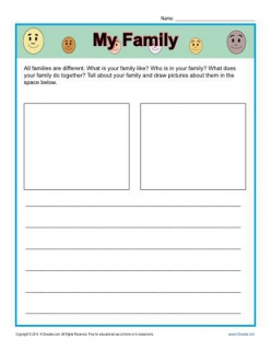 Kindergarten Writing Journal: Family