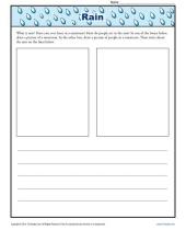 kindergarten writing prompt about rain 9