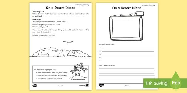 Ks On A Desert Island Worksheet