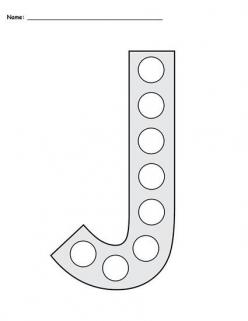 Letter Dot To Dot: J