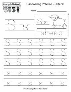 Alphabet Practice: S