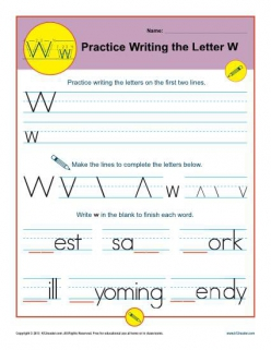 Writing The Letter W
