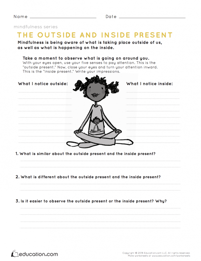 Mindfulness The Outside And Inside Present