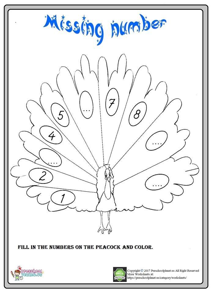 Missing Number Worksheet For Kindergarten