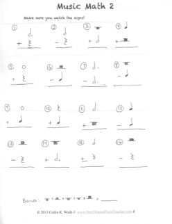 Patterns: Music Notes