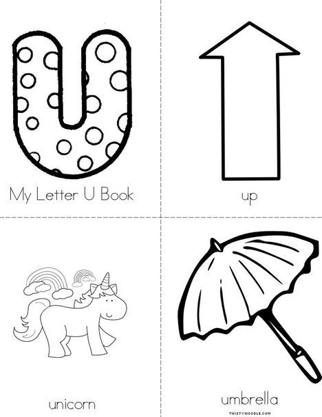 My Letter U From Twistynoodlecom Awesome Site For Little Books