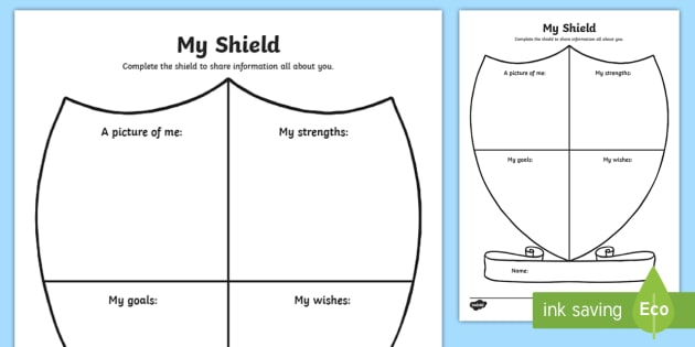 My Shield Worksheet  Worksheet Teacher Made