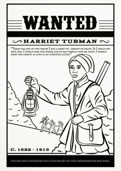 Color Harriet Tubman
