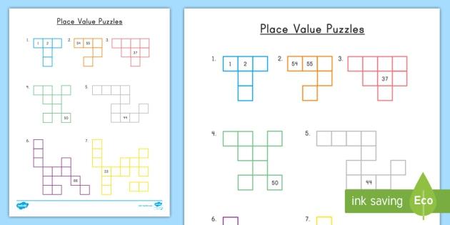 Place Value Puzzles Teacher Made