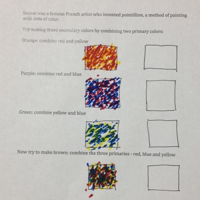 Pointillism Worksheets