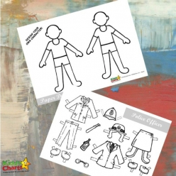 Make A Paper Doll: Police Officer