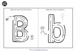 Letter Maze: B