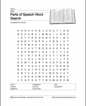 printable activities for learning the parts of speech 8