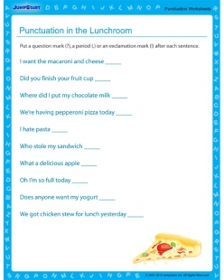 Punctuation: In The Lunch Room