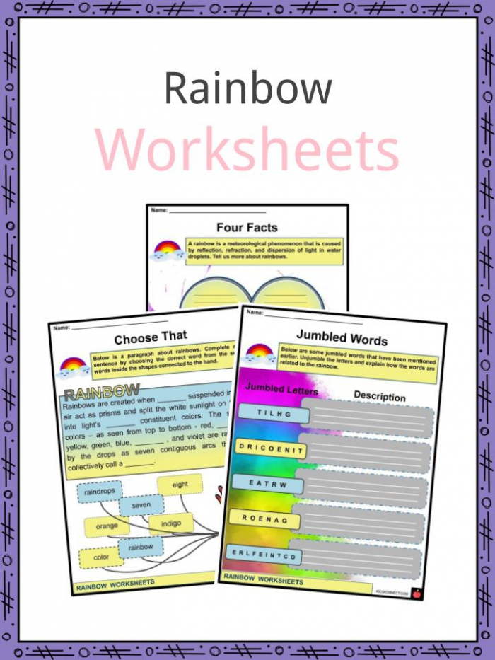 Rainbow Facts  Worksheets  Formation   Overview For Kids