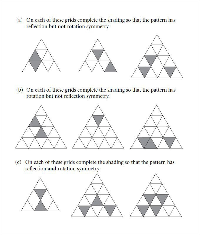 Sample Rotational Symmetry Worksheet Templates