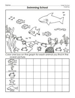 Cut-Out Graph: Sea Creatures