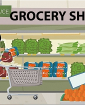 shopping at the grocery store 9