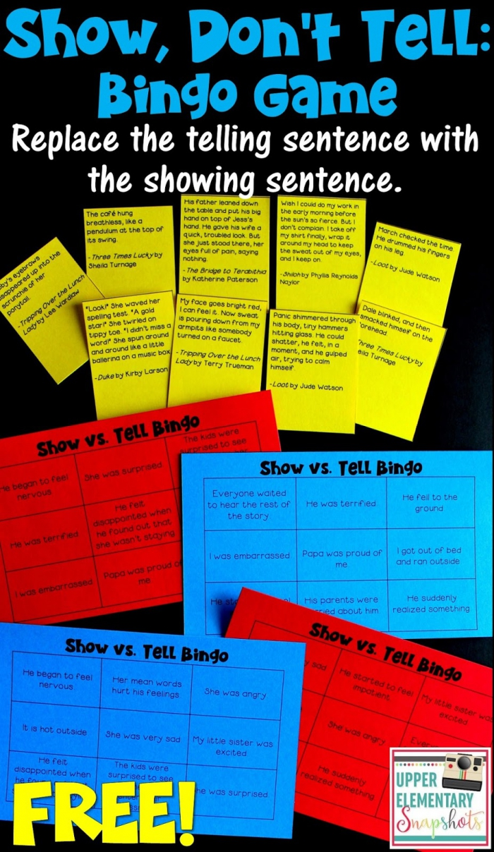 Show  Dont Tell A Free Writing Lesson