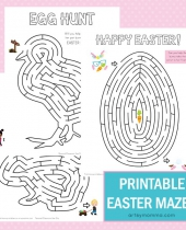 simple yet fun printable easter mazes 6