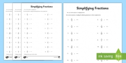 Fractions Review And Simplifying Fractions