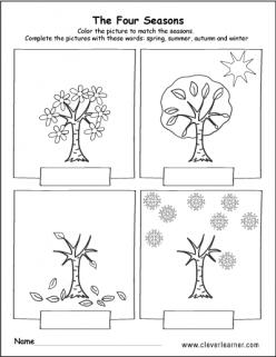 Four Seasons Activity Placemat