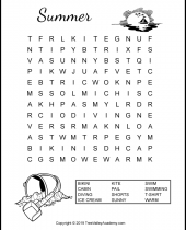 summer word search puzzles for kids 9