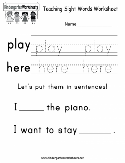 """Learning Sight Words: """"The"""""""