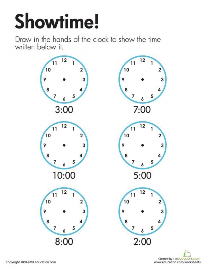 Telling Time Showtime