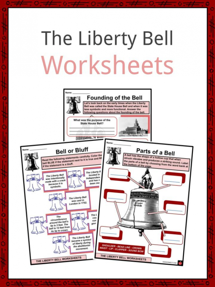 The Liberty Bell Facts  Worksheets   First Bell For Kids