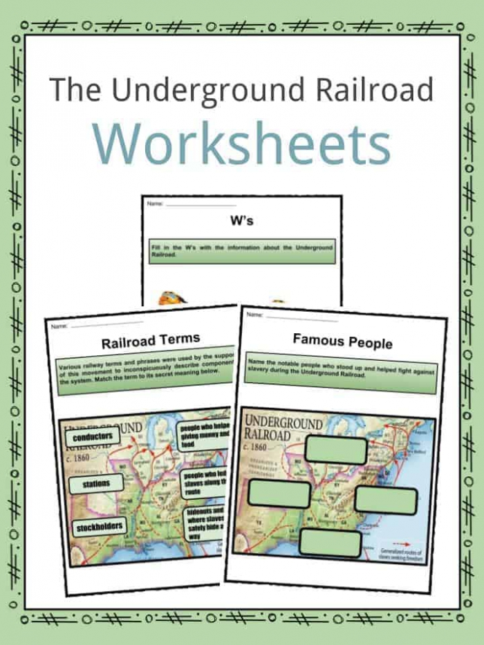 The Underground Railroad Facts  Worksheets   Information For Kids