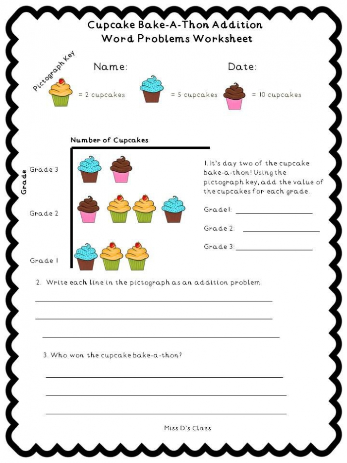 This Is A Cute Cupcake Themed Mini Lesson That Is Great For Back