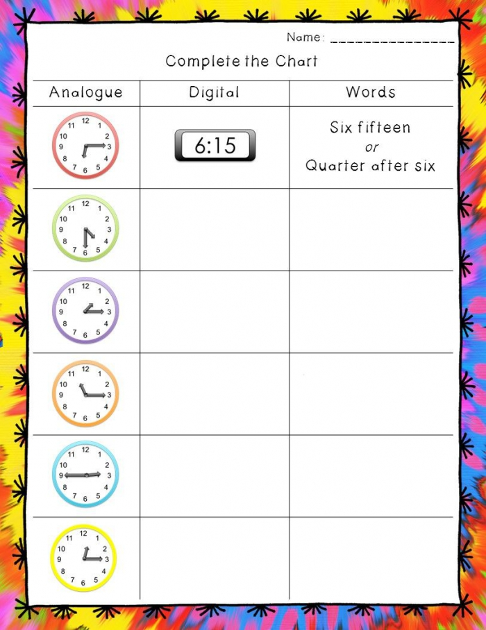 Time Worksheets Hour  Half Hour  And Quarter Hour