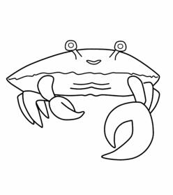 Color The Happy Crab