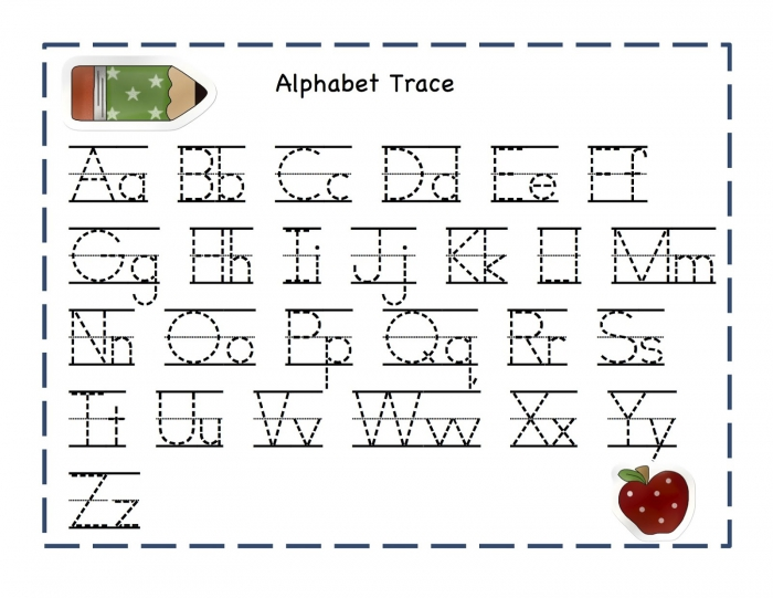 Trace Letters Worksheets