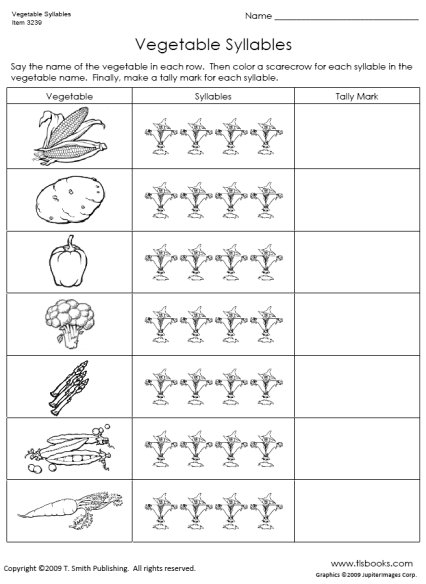 Vegetable Syllables