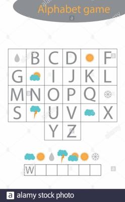 Alphabet Word Search: B, C, D, E