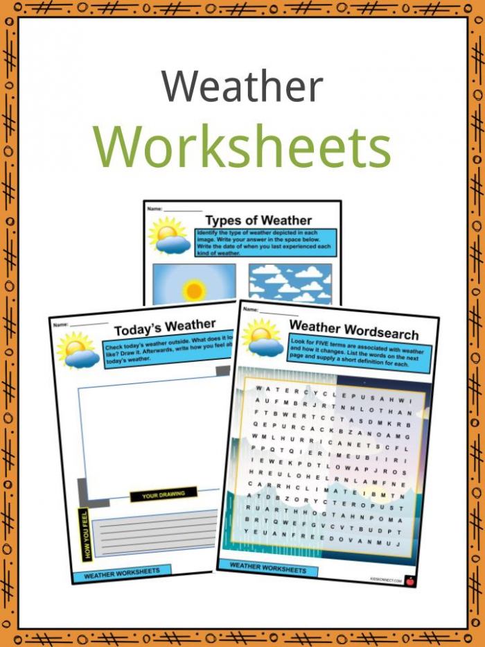 Weather Facts  Worksheets   Types Of Weather For Kids