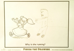 Finish The Drawing: Why Is She Running?