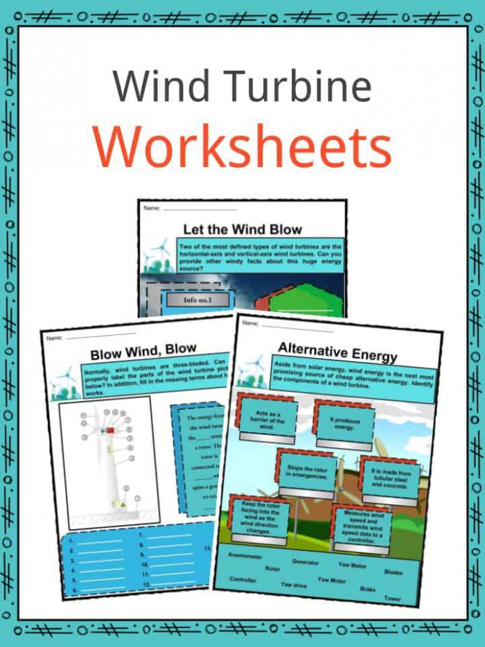 Wind Turbine Facts  Worksheets  History   Efficiency For Kids