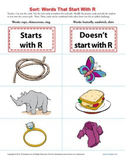"Words That Begin With ""R"""