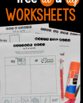 worksheets for ai   ay words 4