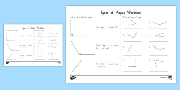 Acute And Obtuse Angles Worksheet  Worksheet Teacher Made