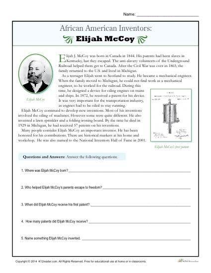 African American Inventors Elijah Mccoy