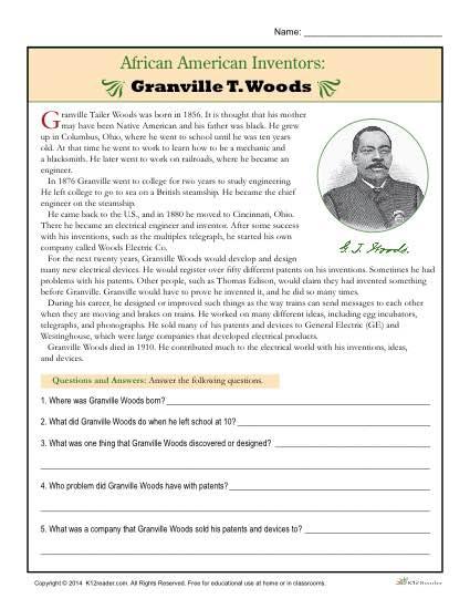 African American Inventors Granville T Woods