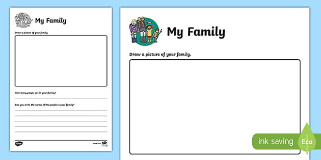 All About My Family Worksheet Teacher Made Types Of Families