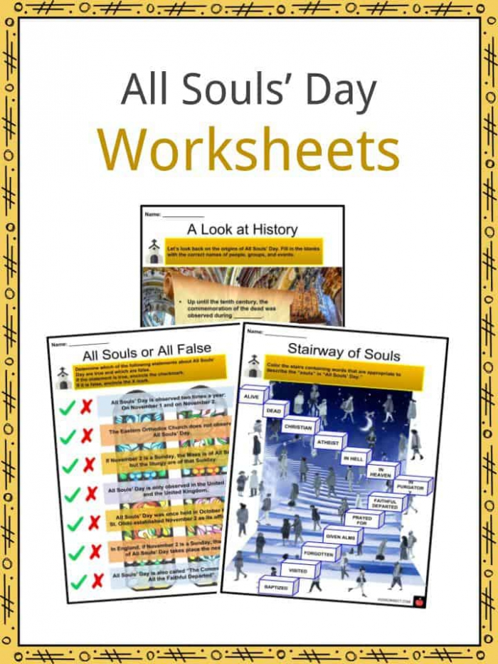 All Souls Day Facts  Worksheets  History  Religious Background