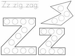 Dot-To-Dot Alphabet: Z
