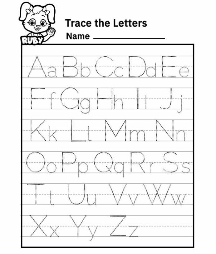Alphabet Letter Tracing Worksheet Free Printable Worksheets For