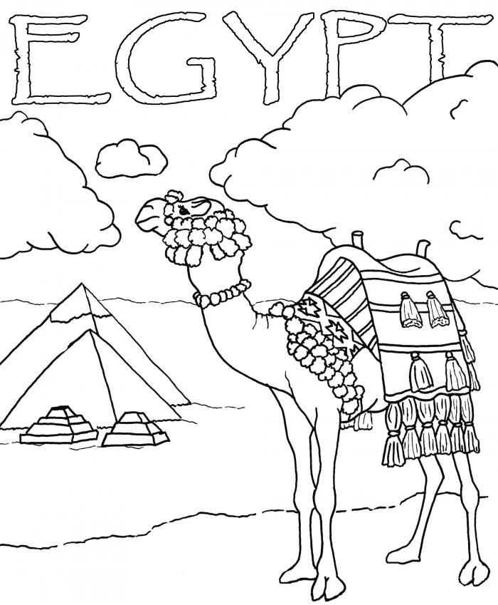 Egypt Coloring Page Worksheets 99worksheets